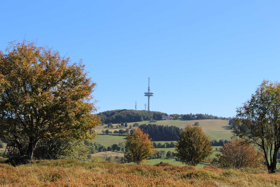 Blick vom Gackerstein am Hoherodskopf