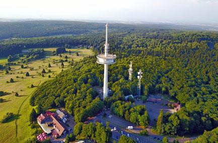 Vogelsberg Hoherodskopf aus der Luft