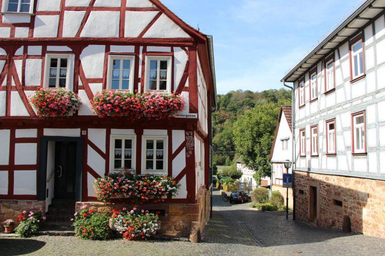 Altstadt in Ortenberg am Vulkanradweg