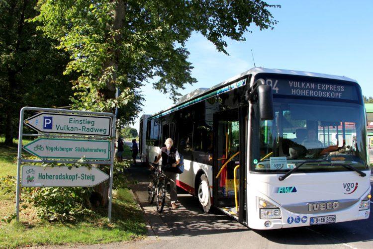 Vulkan-Express auf Vulkanradweg Fahrradurlaub Deutschland