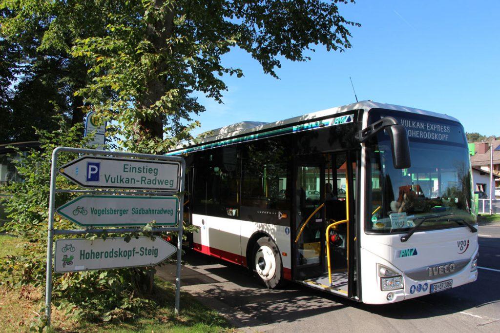 Vulkanexpress - Busshuttel für Ihren Urlaub mit dem Fahrrad im Vogelsberg