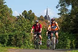 Vulkanradweg Radfahren im Ferienhaus Naturliebe in Laubach Gonterskirchen bei Schotten im Vogelsberg, Hessen, Deutschland